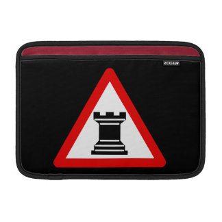 Caution: Rook Chess Piece Sign Sleeves For MacBook Air