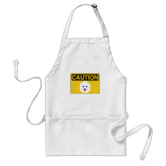 CAUTION: RUDE MINIFIG HEAD by Customize My Minifig Adult Apron