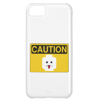 CAUTION RUDE MINIFIG HEAD by Customize My Minifig Cover For iPhone 5C