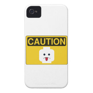 CAUTION RUDE MINIFIG HEAD by Customize My Minifig Case-Mate iPhone 4 Cases