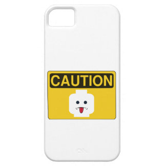 CAUTION RUDE MINIFIG HEAD by Customize My Minifig iPhone 5 Cases