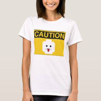 CAUTION: RUDE MINIFIG HEAD by Customize My Minifig T-Shirt