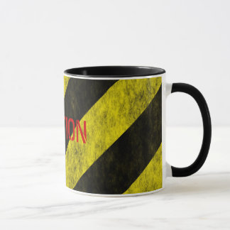 CAUTION Safety Stripe Tape Mug