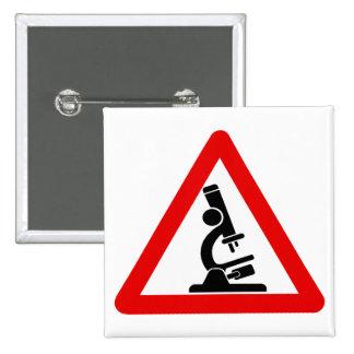 Caution:  SCIENCE! 2 Inch Square Button