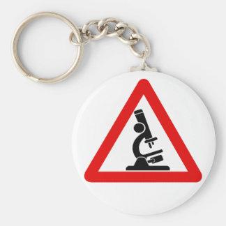 Caution:  SCIENCE! Basic Round Button Keychain