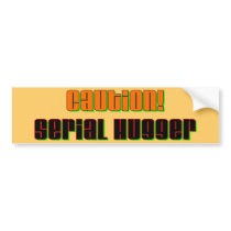 Caution Serial Hugger Bumper Sticker
