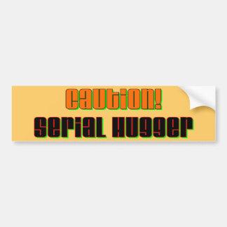Caution Serial Hugger Bumper Sticker Car Bumper Sticker