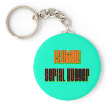 Caution Serial Hugger Keychain