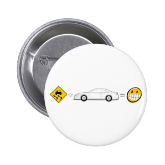 Caution Sign, Drift Silvia S14 is fun 2 Inch Round Button