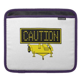 Caution Sign iPad Sleeve