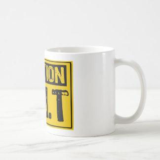 Caution Sign- P.M.T Yellow / Black Classic White Coffee Mug