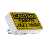 Caution Sign- Random Jazz Hands Yellow/Black Laptop Speaker