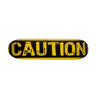 Caution Sign- Skateboard Yellow Black