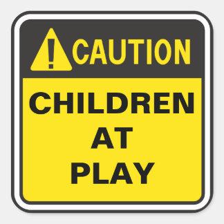 Caution Sign Square Sticker