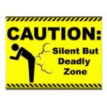 Caution:  Silent But Deadly Zone Postcard