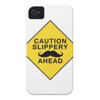 Caution Slippery Mustache Case-Mate iPhone 4 Case