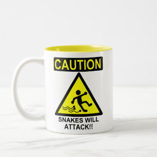 Caution Snakes will Attack!! Coffee Mug