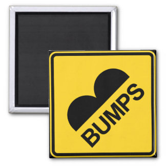 Caution Speed Bumps Funny Traffic Sign 2 Inch Square Magnet