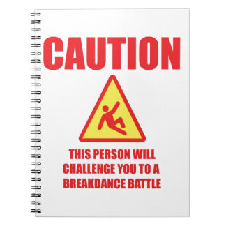 Caution Spiral Notebook