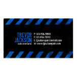 Caution Stripes - Blue Double-Sided Standard Business Cards (Pack Of 100)