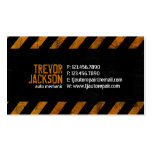 Caution Stripes - Orange Double-Sided Standard Business Cards (Pack Of 100)