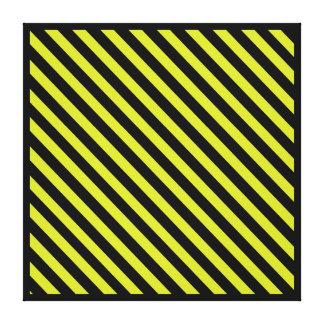 Caution Stripes Wall Art