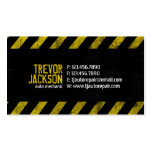Caution Stripes - Yellow Double-Sided Standard Business Cards (Pack Of 100)