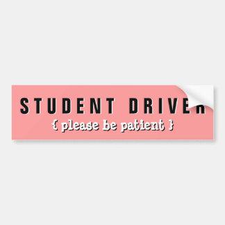 Caution Student Driver Please be Patient Sticker Car Bumper Sticker