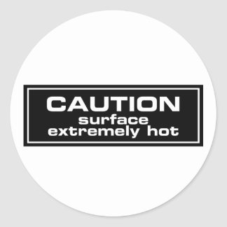 Caution Surface Extremely Hot Stickers