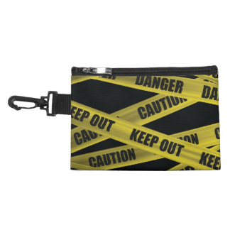 Caution Tape Accessory Bags