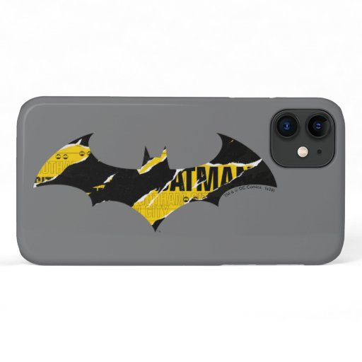 Caution Tape Batman Logo iPhone 11 Case