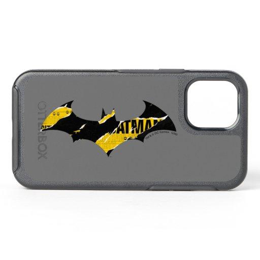 Caution Tape Batman Logo OtterBox Symmetry iPhone 12 Case
