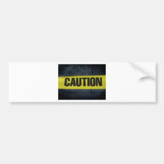 Caution Tape Bumper Sticker
