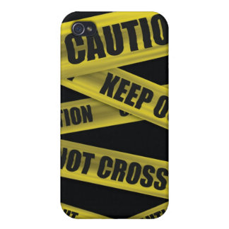 Caution Tape  Case For iPhone 4