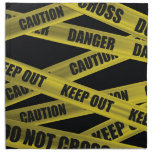 Caution Tape Cloth Napkin