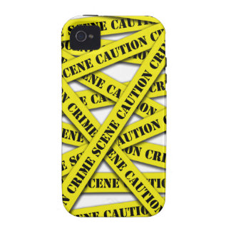 Caution Tape Cover iPhone 4/4S Covers