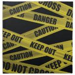Caution Tape Printed Napkin