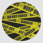 Caution Tape Stickers