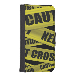 Caution Tape Wallet Phone Case For iPhone SE/5/5s