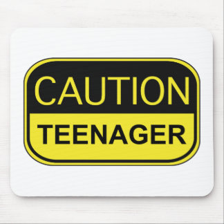 Caution Teenager Mouse Pad