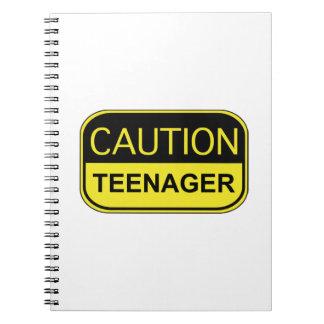 Caution Teenager Notebook