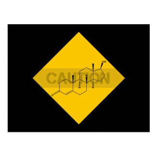 Caution: Testosterone Postcard