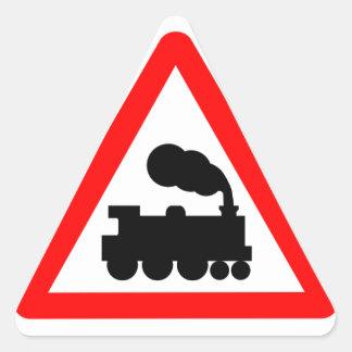 Caution! Trains sticker