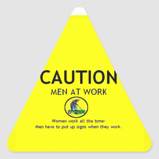 Caution Triangle Sticker