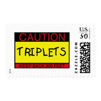 Caution Triplets Postage