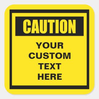 Caution Warning Large Custom Sticker