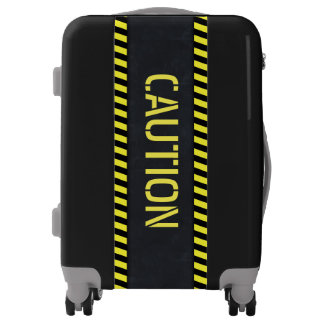 Caution Warning Sign Carry On Luggage Bag