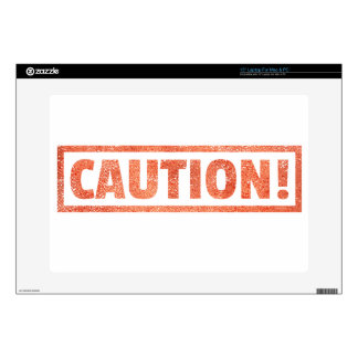 "CAUTION WARNING SIGN DANGER BEWARE 15"" LAPTOP SKINS"
