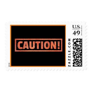 CAUTION WARNING SIGN DANGER BEWARE POSTAGE