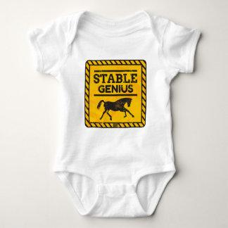Caution Warning Stable Genius Tweet Trump Politics Baby Bodysuit